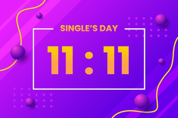Abstract ontwerp verloop singles 'dag