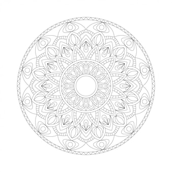 Abstract ontwerp zwart wit element. ronde mandala in vector. grafische sjabloon voor uw ontwerp. cirkelvormig patroon