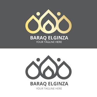 Abstract ontwerplogo in twee versies