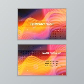 Abstract ontwerpsjabloon voor donkere moderne visitekaartjes