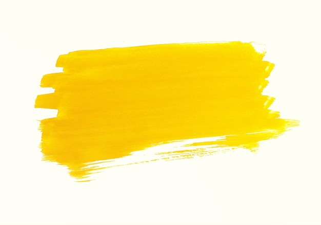 Abstract oranje aquarel penseelstreek