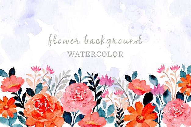 Abstract oranje bloemen achtergrond met waterverf
