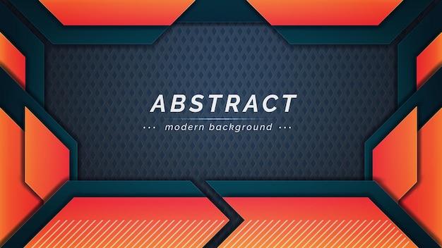 Abstract oranje en groen horizontaal ontwerp als achtergrond