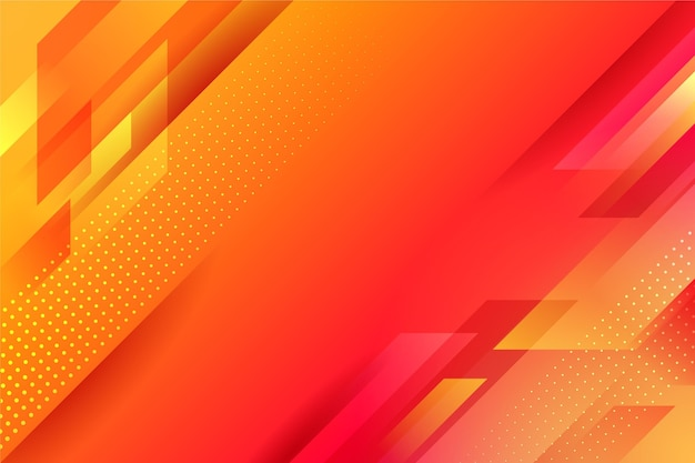 Abstract oranje geometrische achtergrond