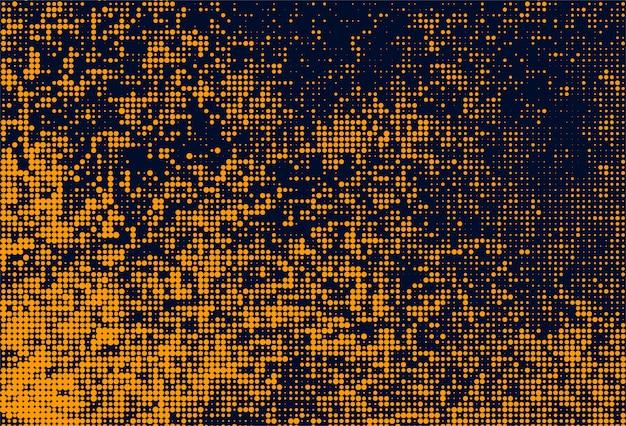 Abstract oranje gestippelde patroon achtergrond