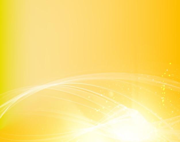 Abstract oranje golven achtergrond met vloeiende lijnen