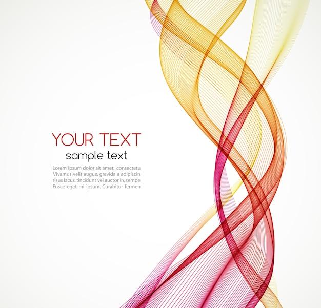 Abstract oranje kleur golf ontwerpelement. abstracte vloeiende kleur golvende vector. curve stroom oranje beweging illustratie. rode en oranje rookgolflijnen. oranje golf