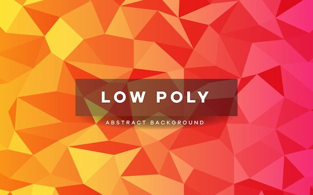 Abstract oranje laag poly kristal achtergrond.
