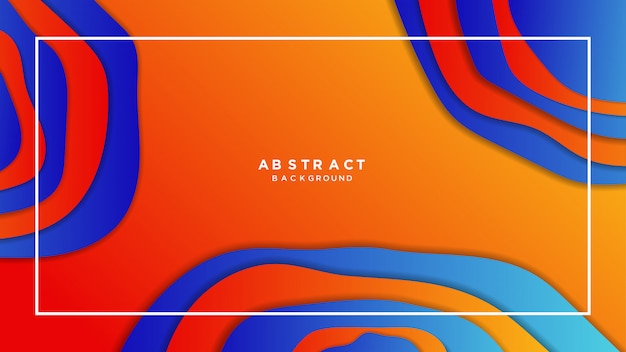 Abstract oranje papercut gradient achtergrond