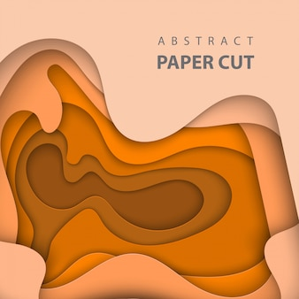 Abstract oranje papier gesneden achtergrond