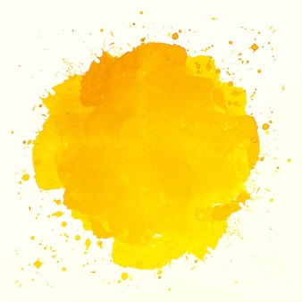 Abstract oranje splash aquarel achtergrond