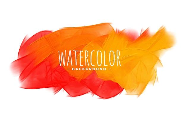 Abstract oranje tinten aquarel textuur achtergrond