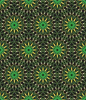 Abstract ornament als achtergrond, naadloos patroon met bloemen