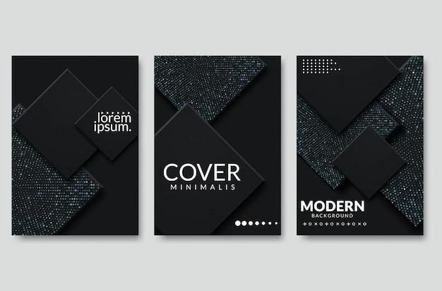 Abstract papier gesneden omslagontwerp. vector creatieve illustratie