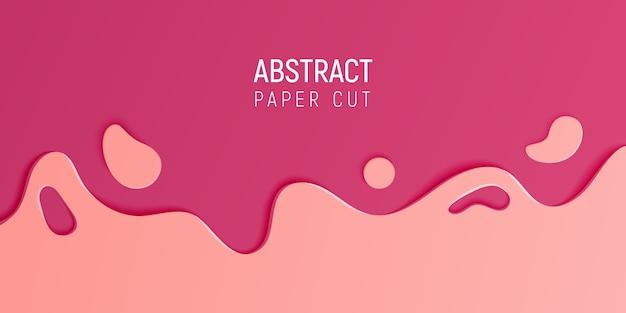 Abstract papier gesneden slijm achtergrond