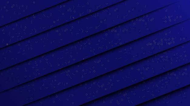 Abstract papier gesneden stijl donkerblauwe achtergrond met geometrie patroon.