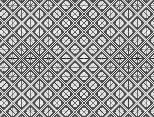 Abstract patroon als achtergrond met een gespleten rechthoekig motief met een combinatie van zwart en grijs