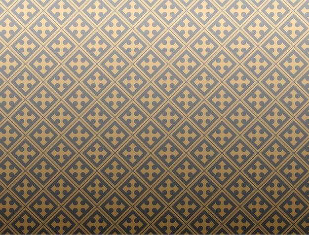 Abstract patroon als achtergrond met een kielzogmotief plus een combinatie van zwart en geel