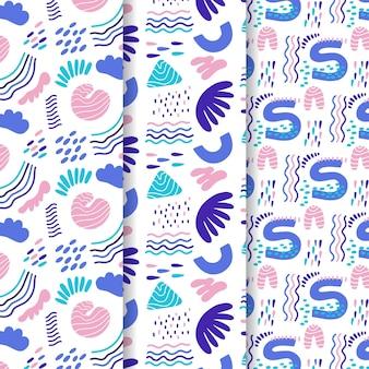 Abstract patroon collectie getekend
