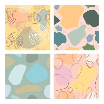 Abstract patroon met vormen, lijnen, vlekken, opdrukken, stippen. artistieke naadloze achtergrond. klaar ontwerpideeën voor voor poster, trendy kaart, uitnodiging, plakkaat, brochure, flyer, presentatie en meer.
