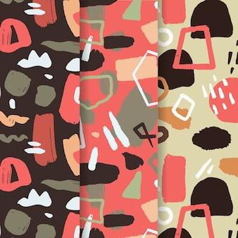 Abstract patroon pack in de hand getekend
