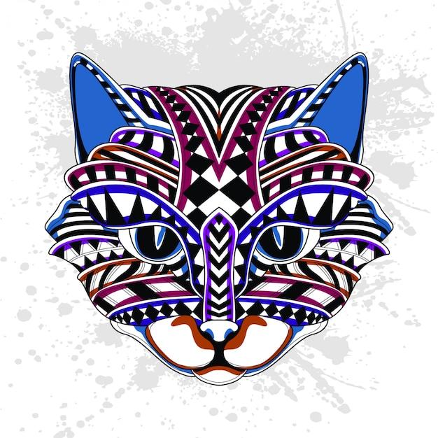 Abstract patroon van kat
