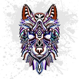 Abstract patroon van wolf