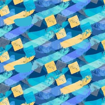Abstract penseelstreken naadloze patroon
