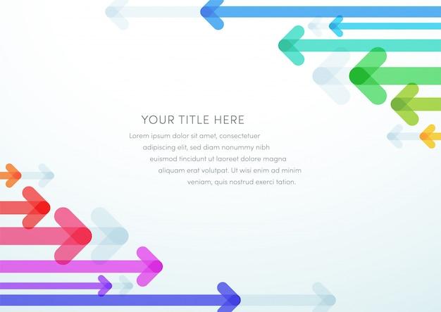 Abstract pijl vector kleurrijk ontwerp als achtergrond