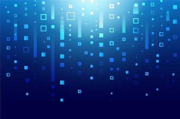 Abstract pixel regen behang