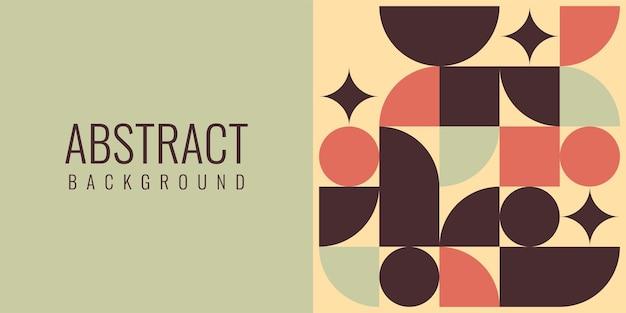 Abstract plat geometrisch achtergrondsjabloonontwerp