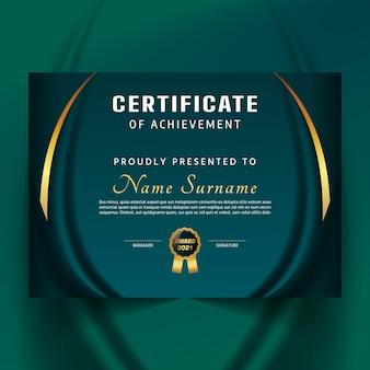 Abstract premium certificaat van prestatie