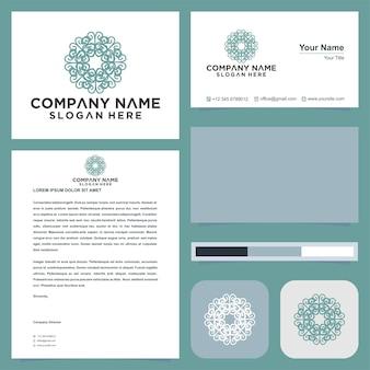 Abstract premium luxe logo-ontwerp en visitekaartje