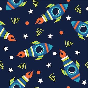 Abstract raketillustratiepatroon