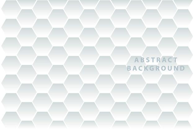 Abstract. reliëf zeshoek witte achtergrond