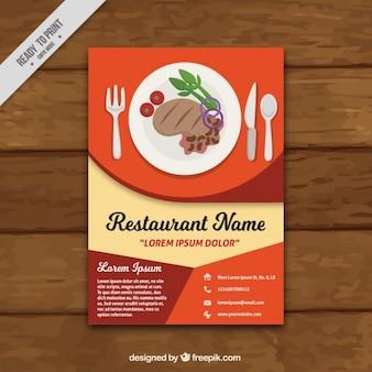 Abstract restaurant brochure