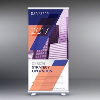 Abstract roll up banner of standee vector ontwerp