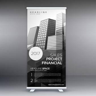 Abstract roll up presentatie banner template voor reclame