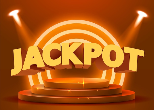Abstract rond podium verlicht met schijnwerpers. casino jackpot concept. stage achtergrond. vector illustratie