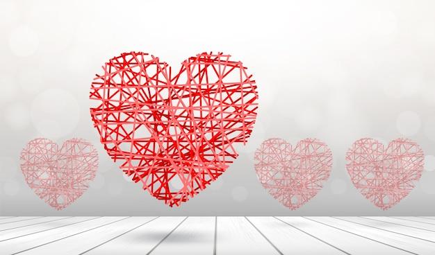 Abstract rood hart