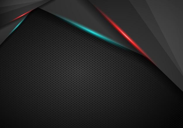 Abstract rood kader met van het gatenpatroon van de staaltextuur de moderne achtergrond van technologie van technologie.