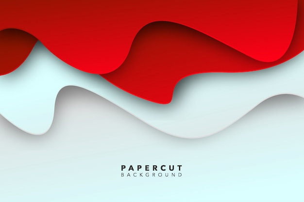 Abstract rood witboek gesneden achtergrond