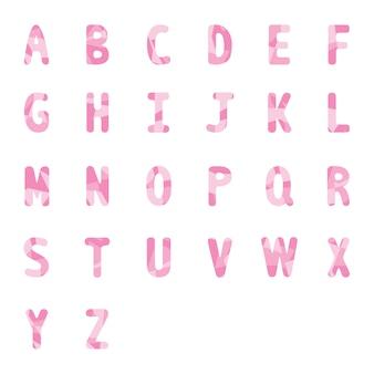 Abstract roze alfabetten a tot z