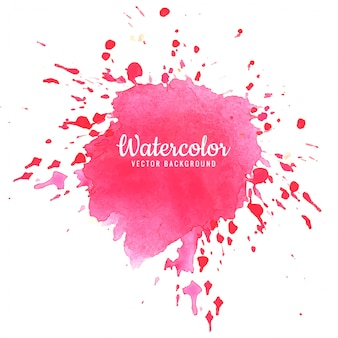 Abstract roze aquarel splash ontwerp