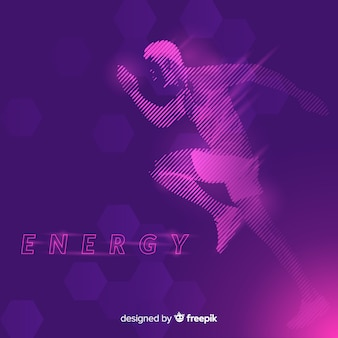 Abstract runner silhouet plat ontwerp