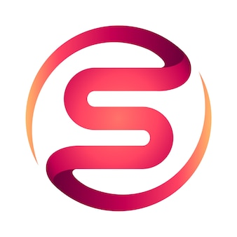Abstract s logo ontwerp