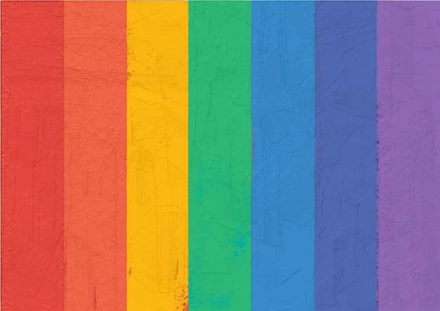 Abstract schilderij kleurrijke regenboog gestreept.