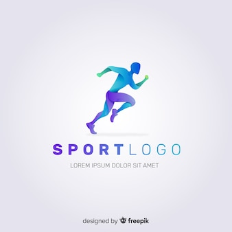 Abstract silhouet sport logo plat ontwerp