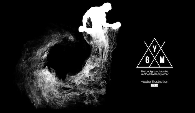 Abstract silhouet van een bodybuilder gym illustratie