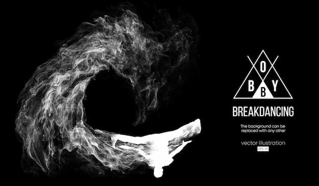 Abstract silhouet van een breakdancer
